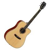 星臣(Starsun) DG220C-P 41寸原声初学入门木吉他 缺角民谣吉他 (原木亮光色)