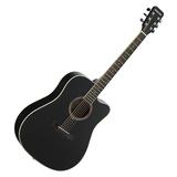 DG220C-P 41寸原声初学入门木吉他 缺角民谣吉他 (黑色亮光)