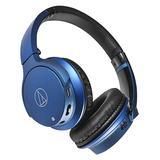 铁三角(Audio-technica) ATH-AR3BT 【三玖同款】无线蓝牙耳机 头戴重低音音乐运动带线控耳麦 (蓝色)
