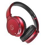 铁三角(Audio-technica) ATH-AR3BT 【三玖同款】无线蓝牙耳机 头戴重低音音乐运动带线控耳麦 (红色)