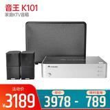 音王(InAndOn) K101 家庭KTV音箱 专业卡拉OK蓝牙重低音音响套装(不含支架)