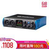 普瑞声纳studio 24C声卡搭配铁三角AT2020麦克风 专业个人录音配音设备套装