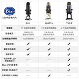 Blue yeti x 升级雪怪专业电容USB麦克风 录音直播K歌话筒