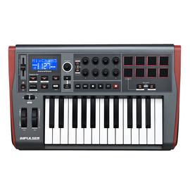 诺维逊(Novation) Impulse 25 25键USB MIDI键盘 带控制器  半配重带触感 带大LCD屏幕