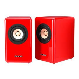 奥莱尔(AUNE) X3 全频3寸发烧无源音箱 红色(一对装)