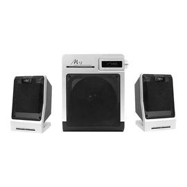惠威(HiVi) M12  2.1低音炮多媒体音箱 银黑色