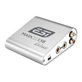 ESI 玛雅 MAYA22delux电脑录音K歌外置USB声卡