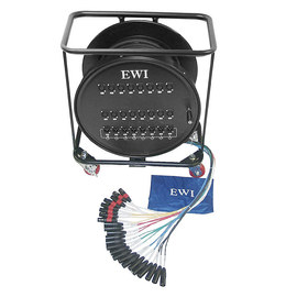 EWI RPPX-16X8-100 16路 100英尺 舞台多芯信号线缆车 带轮