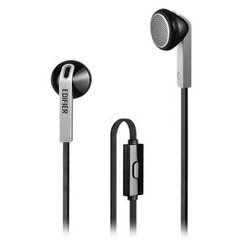 漫步者(Edifier) H190P 手机线控耳麦 魔音面条线耳塞 (黑色)