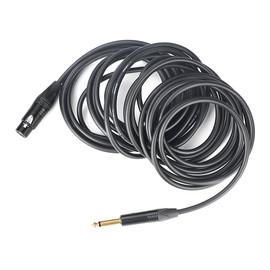佳耐美(Canare) DS0006 单声道6.3插头转母卡侬 麦克风录音线(8米)