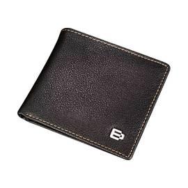 其它 头层牛皮钱夹 时尚短款钱包 (咖啡色)