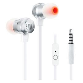JBL T280A 立体声入耳式耳机 高兼容性手机通话耳麦 (银色)