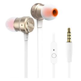 JBL T280A 立体声入耳式耳机 高兼容性手机通话耳麦 (金色)