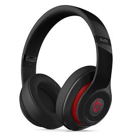 Beats studio Wireless 无线蓝牙录音师耳机 头戴式降噪电脑手机耳机(黑红)