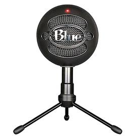 Blue snowball-ice专业电容话筒麦克风 K歌录音直播 USB直插麦克风 (黑色)