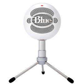 Blue snowball-ice专业电容话筒麦克风 K歌录音直播 USB直插麦克风 (白色)
