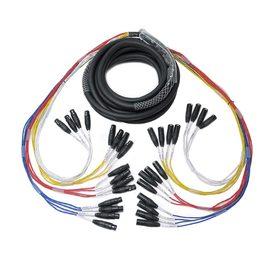 EWI MTFM-16-15,15英尺 多芯电缆信号线 16组公母卡农线 舞台演出录音棚音频信号线