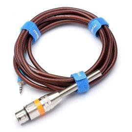 null Q3单卡侬线 专业高音质3.5转卡侬母线 2.5m