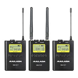 麦拉达(MAILADA) WM10 专业单反手机采访影视/直播录音无线麦克风 小蜜蜂领夹无线话筒