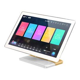 雷客(skyrocker) 惊艳 Note 21.5寸家庭KTV点歌机 高清触摸屏卡拉OK一体机家用点唱机 桌面式 电容屏 3T (白加金)