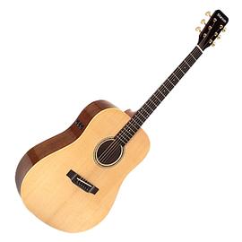 星臣(Starsun) DF10E 41寸原木色亮光圆角单板民谣吉他 电箱款