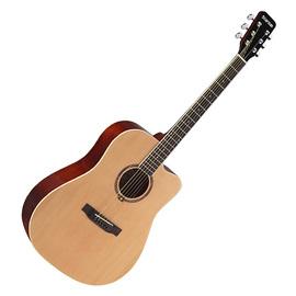 星臣(Starsun) DG120C-P 41寸缺角民谣木吉他 初学入门木吉他 (原木亮光色)
