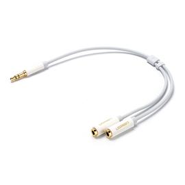 绿联(UGREEN) 耳机分线器一分二音频线1分2双人情侣耳机转接头转换器分享线 (亮壳)