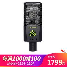 莱维特(LEWITT) LCT 240 PRO 专业录音电容麦克风 网络K歌主播直播麦克风话筒(黑色)