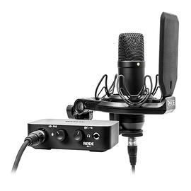罗德(RODE) NT1+AI-1 专业电容录音麦克风声卡套装 麦克风音频接口 录音K歌网红直播全套设备