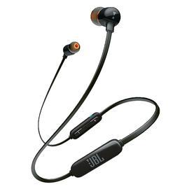 JBL T110 BT入耳式无线蓝牙耳机 手机重低音音乐线控运动型跑步耳塞 (黑色)