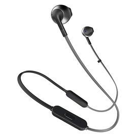JBL T205 BT入耳式无线蓝牙耳机耳麦 运动跑步手机音乐耳塞带线控 (黑色)