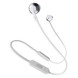 JBL T205 BT入耳式无线蓝牙耳机耳麦 运动跑步手机音乐耳塞带线控 (白色)