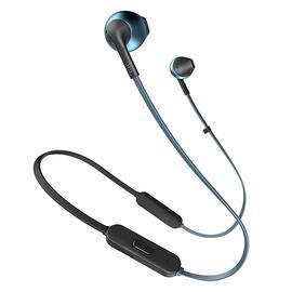 JBL T205 BT入耳式无线蓝牙耳机耳麦 运动跑步手机音乐耳塞带线控 (蓝色)