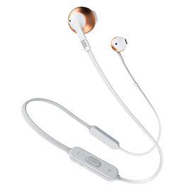 JBL T205 BT入耳式无线蓝牙耳机耳麦 运动跑步手机音乐耳塞带线控 (粉色)