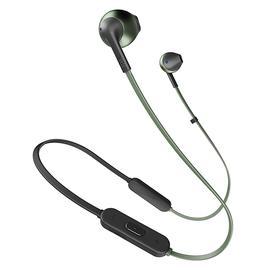 JBL T205 BT入耳式无线蓝牙耳机耳麦 运动跑步手机音乐耳塞带线控 (绿色)