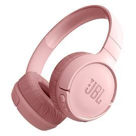 JBL T500BT 头戴式无线蓝牙耳机 音乐运动便携重低音耳麦带线控  (粉色)