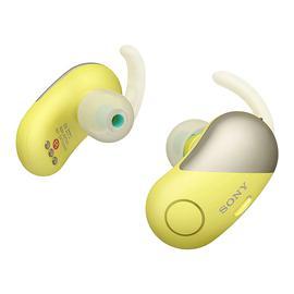 索尼(SONY) WF-SP700N 【热巴代言】真无线蓝牙降噪耳机 运动跑步防水迷你入耳式耳塞 (黄色)