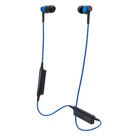 铁三角(Audio-technica) ATH-CKR35BT 无线蓝牙耳机 颈挂运动跑步防水入耳式耳机带麦  (蓝色)
