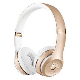 Beats Solo3 Wireless 头戴式无线蓝牙耳机 重低音折叠式耳麦 (金色)