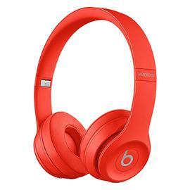 Beats Solo3 Wireless 头戴式无线蓝牙耳机 重低音折叠式耳麦 (大红色)