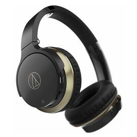 铁三角(Audio-technica) ATH-AR3BT 【三玖同款】无线蓝牙耳机 头戴重低音音乐运动带线控耳麦 (黑色)