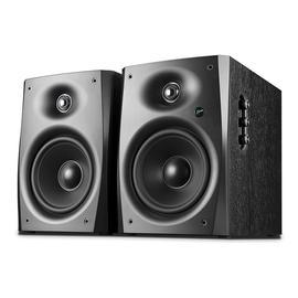 惠威(HiVi) D1090 无线蓝牙HiFi数字音箱 6.5寸电脑电视多媒体书架式有源音响(黑木纹一对)