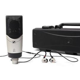 森海塞尔(Sennheiser) MK4专业录音K歌直播电容麦克风套装(MK4麦克风+IE40 PRO耳机黑色、透明随机+话筒收纳盒)