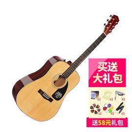 芬达(Fender) CD-60 41寸云杉面板初学者民谣吉他 木吉他