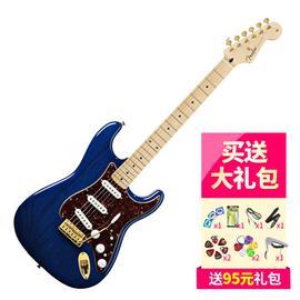 芬达(Fender) 013-3002-327 墨豪  枫木指板电吉他 (透明蓝宝石)