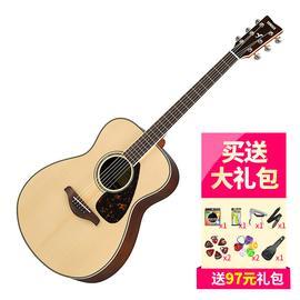雅马哈(YAMAHA) FS830 40寸单板民谣木吉他 原木色