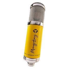 Monkey Banana Mangbey 多指向大振膜电子管电容录音麦克风 专业录音棚主播直播话筒 (黄色)