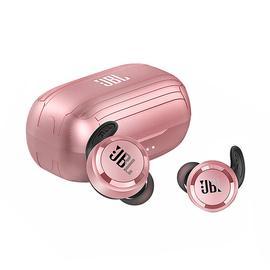 JBL T280 TWS 真无线蓝牙耳机防水防汗运动耳机无线入耳式耳塞 (粉色)