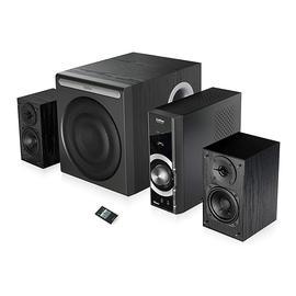 漫步者(Edifier) C3  多媒体蓝牙音箱 电脑笔记本客厅家用木质重低音炮音响(黑色)