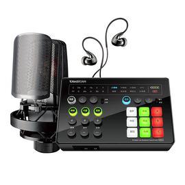 得胜(TAKSTAR) MX1 Set 便捷式直播声卡麦克风套装 手机直播户外直播网络k歌主播声卡设备全套